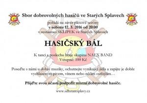 Hasiči_stare_splavy_plakát na zábavuBAR 16