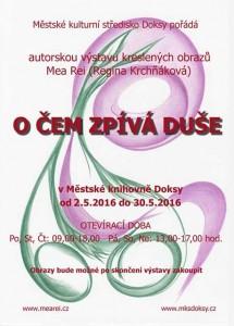 VÝSTAVA_KRCHNAKOVA_Plakát - pozvánka Doksy-O čem zpívá duše_WEB